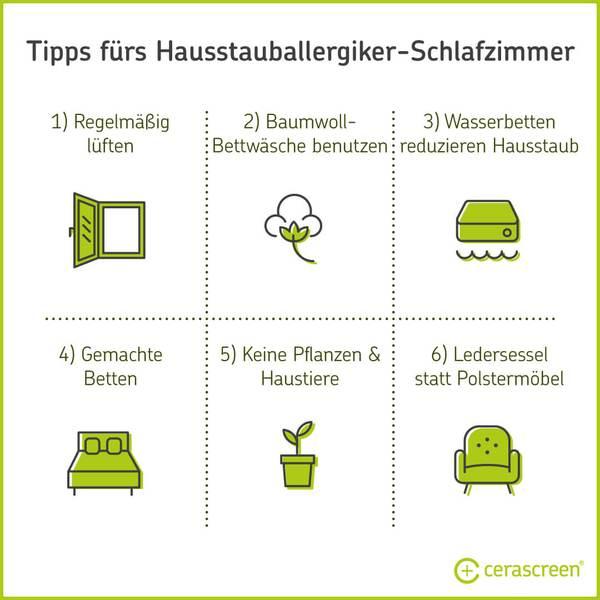 Sechs Tipps bei Hausstauballergie